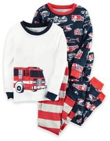 Carter's 4-Piece Firetruck Pajama Set