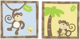 CoCalo Canvas Art 2-Piece Monkey Time, Brown/Green/Blue
