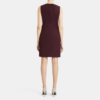 Theory Sleeveless Fitted Dress in Double-Face Stretch Cotton