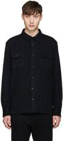 08sircus Navy Pinstripe Shirt