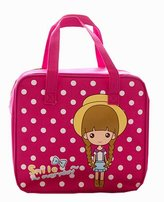 Black Temptation [Cute Girl] Kids/Students Lunch Tote Bag Reusable Picnic Bag