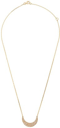 Noor Fares 14kt yellow gold crescent diamond necklace