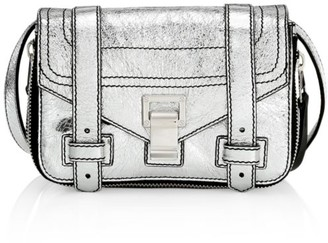 Proenza Schouler Mini PS1+ Zip-Around Metallic Leather Crossbody Bag