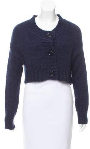 Galliano Cropped Knit Cardigan