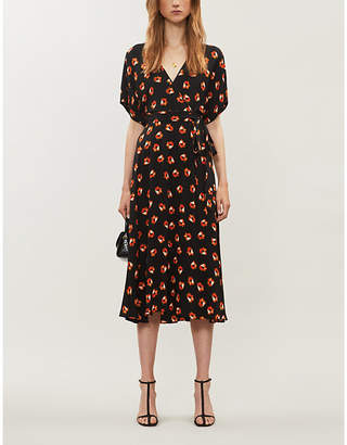 Diane von Furstenberg Kelsey floral-print stretch-silk midi wrap dress