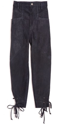 Isabel Marant Adeloisa Suede Pant in Faded Night