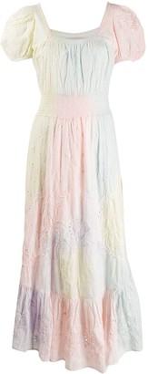 LoveShackFancy Airbrush Maxi Smock Dress