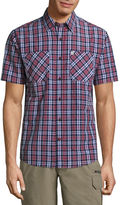 Coleman Short Sleeve Plaid Button-Front Shirt