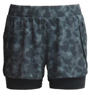 Ideology Plus Size Camo-Print Woven Pull-On Shorts, Created for Macy's