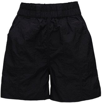 Ganni High Waist Nylon Shorts