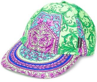 Versace Baroque print baseball cap