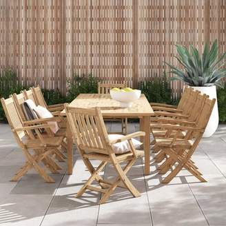 Anthony Logistics For Men Modern Rustic Interiors 11 Piece Teak Dining Set Modern Rustic Interiors