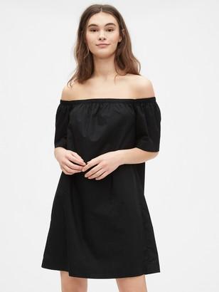 Gap Off The Shoulder Dress in Poplin