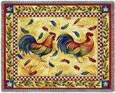 Pure Country Two Roosters Throw - 54 x 70 Blanket/Throw