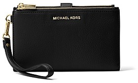 MICHAEL Michael Kors Adele Double Zip Leather iPhone 7 Plus Wristlet
