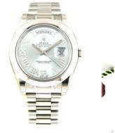 Rolex Day Date II 218206 Platinum President Blue Diamond Dial 41mm Watch