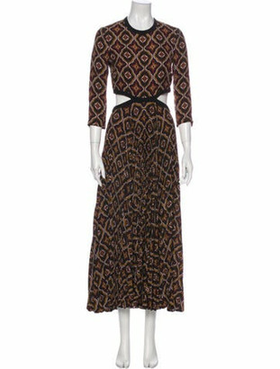 A.L.C. Silk Long Dress Black Silk Long Dress