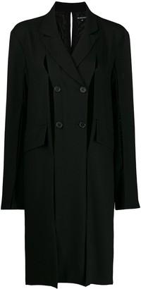 Ann Demeulemeester Oversized Fit Cut-Out Detail Coat