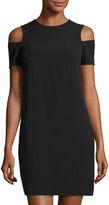 Maggy London Cold-Shoulder Shift Dress, Black