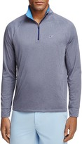 Vineyard Vines Nine Mile Performance Heathered Half Zip Sweatshirt