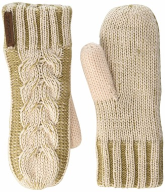Timberland Plaited Cable Mittens Cameo Rose