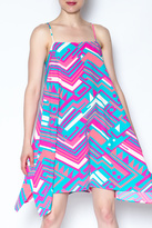 Julie Brown Vibrant Geometric Dress