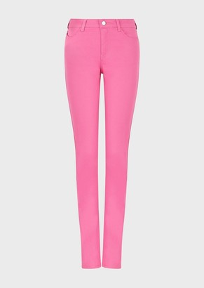 Emporio Armani J18 Garment-Dyed, Stretch-Satin, Slim-Fit Trousers