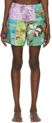 Amiri Multicolor Hawaiian Repair Swim Trunks