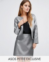 Asos Metallic Quilt Jacket