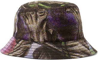 Acne Studios + Monster In My Pocket Printed Cotton-twill Bucket Hat - Pink