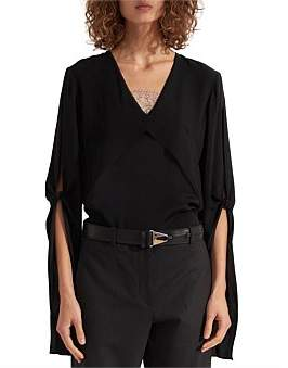 Dion Lee Hinge Knot Layered Blouse