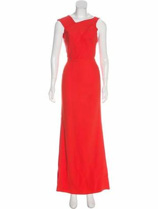 Roland Mouret Sleeveless Maxi Dress Orange