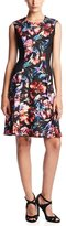 London Times T1548M Floral Paneled A-Line Dress