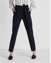 Express pinstripe belted sash waisted pant