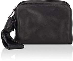 The Row Women's Top-Zip Wristlet - Black