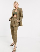 Asos Design DESIGN sharktooth tapered dad suit pants