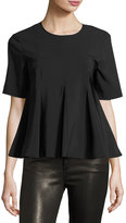 Opening Ceremony Penn Twill Flare Short-Sleeve Top, Black