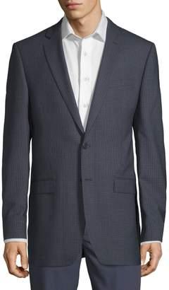 Calvin Klein Extra Slim Fit Mini Checkered Wool Sport Coat
