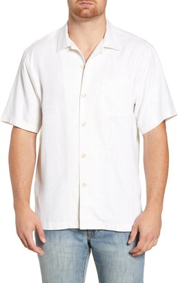 Tommy Bahama Al Fresco Tropics Classic Fit Short Sleeve Silk Button-Up Shirt