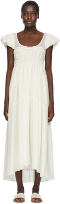 Chloé Off-White Silk Empire Dress
