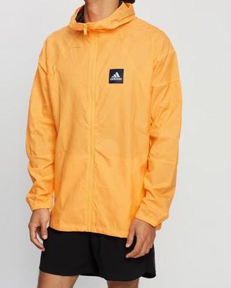 adidas Men's Orange Jackets - W.N.D. Primeblue Jacket - Size L at The Iconic