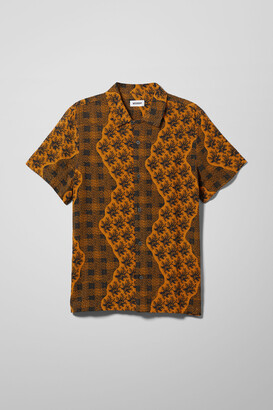 Weekday Coffee Floral Fax Shirt - Blue
