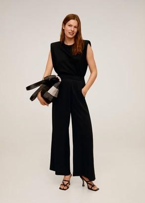 MANGO Dart palazzo pants black - S - Women