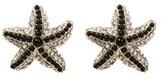Amrita Singh Crystal & Enamel Starfish Studs.