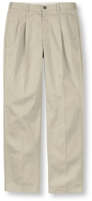 L.L. Bean Men's Wrinkle-Free Double LA Chinos, Natural Fit Hidden Comfort Pleated