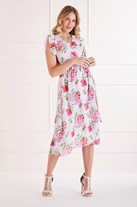 Yumi White Floral Day Dress