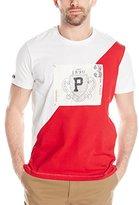 U.S. Polo Assn. Men's Diagonal 125th Anniversary Color Block Crew Neck T-Shirt