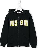 MSGM logo print hoodie - kids - Cotton - 10 yrs