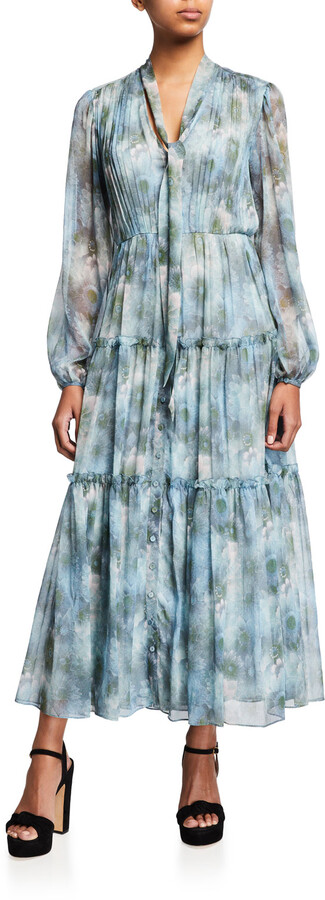 Thumbnail for your product : Jason Wu Collection Firefly-Printed Chiffon Day Dress