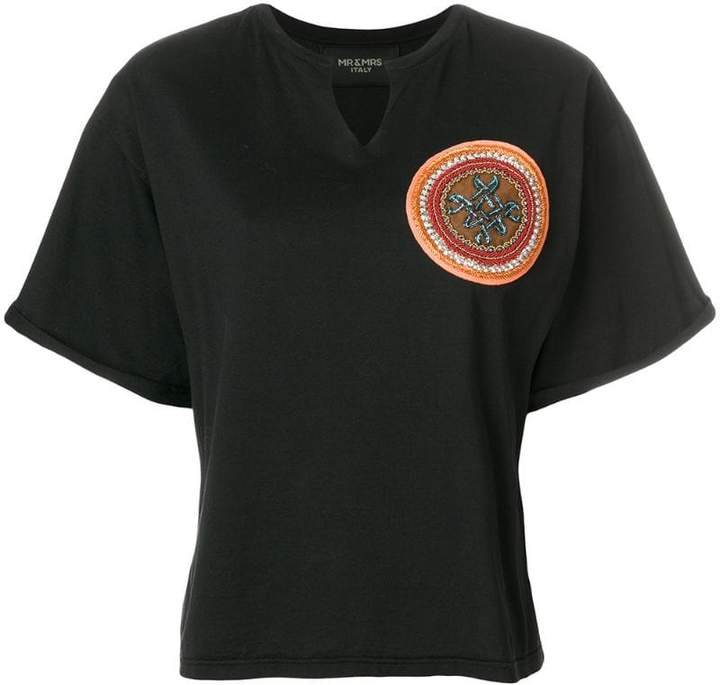 Mr & Mrs Italy beaded patch T-shirt